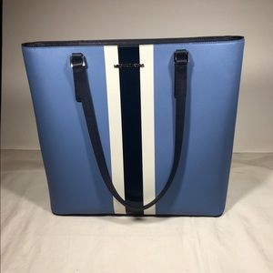 NWT Michael Kors Morgan center stripe Lg tote.